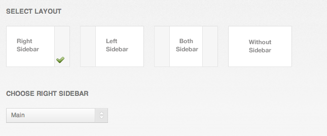 Sidebar Option WordPress