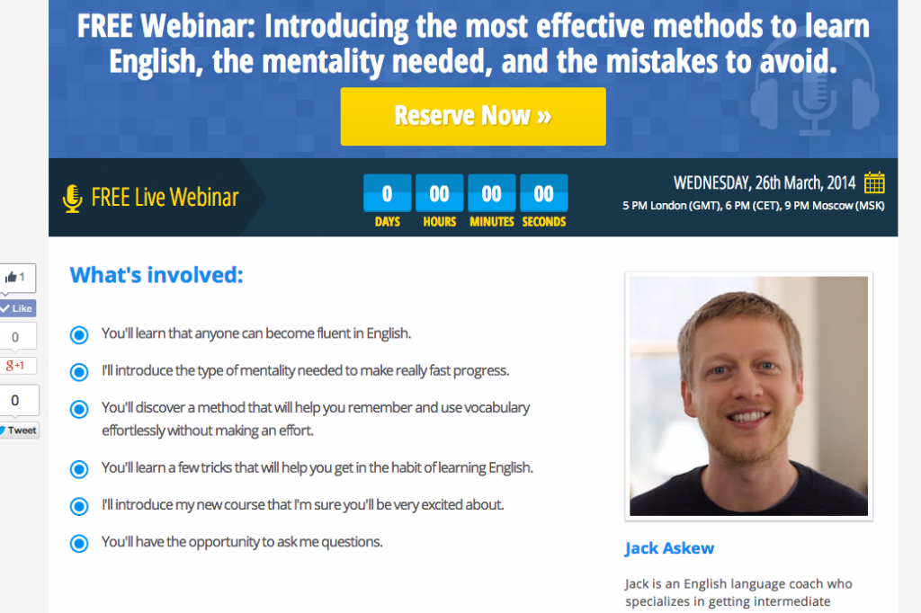 Webinar Squeeze Page