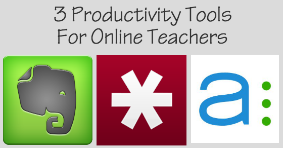 Three Productivity Tools for Online Teachers