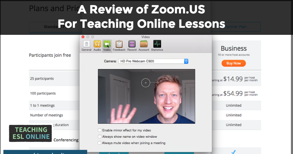teach English online using Zoom