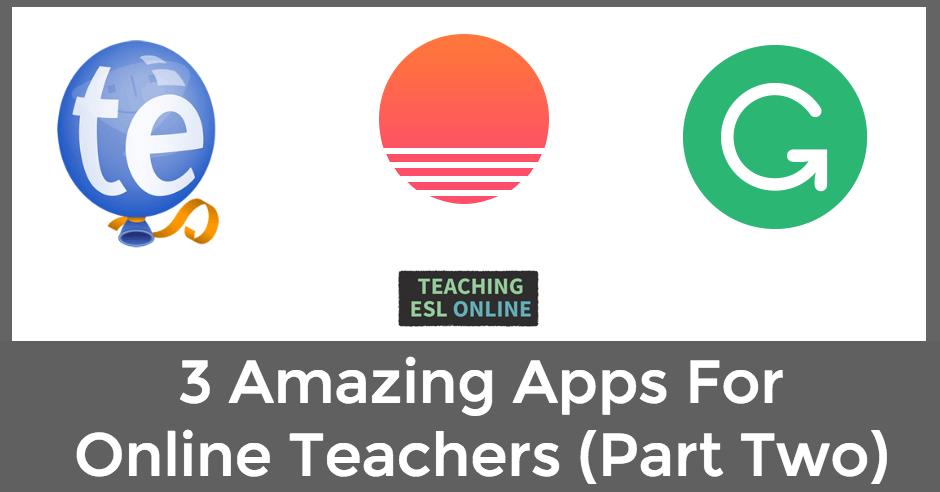 3 Apps for Online Teachers