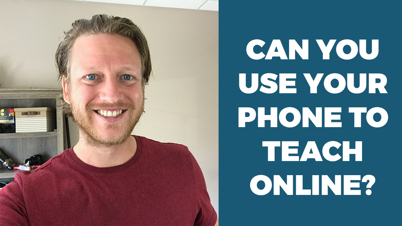 teach online using phone english