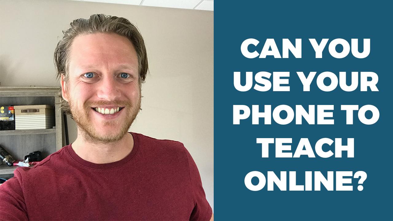 teach online using phone english