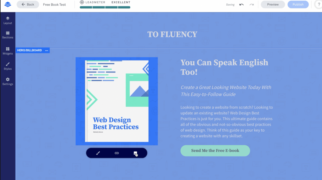 change leadpages image