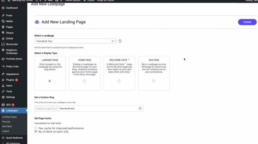 the WordPress plugin for LeadPages
